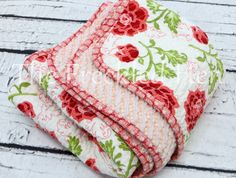 Faux chenille baby blanket hand made baby quilt girl by FreckldHen