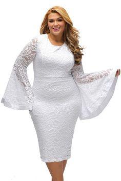 Plus Size Bell Sleeves Lace Dress. Plus Size DressesBlack Long ... 26314c219e72