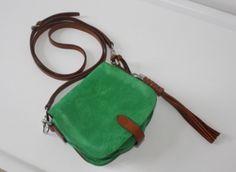 RALPH LAUREN suede & leather cross body bag