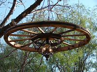 $30 Homemade Fire-pit Chandelier!!