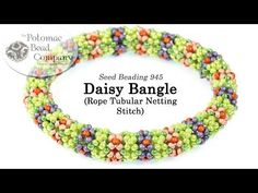 Do you love working with seed beads? This unique and easy tubular beaded design creates a daisy style look with tubular netting technique. All supplies from www.PotomacBeads.com