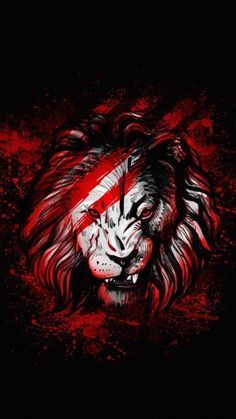 Lion Red Art - iPhone Wallpapers