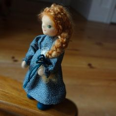 Your place to buy and sell all things handmade Golden Red Hair, Felt Shoes, Warm In The Winter, Dollhouse Dolls, Wool Coat, Green Eyes, Flower Decorations, Dinosaur Stuffed Animal, Arms