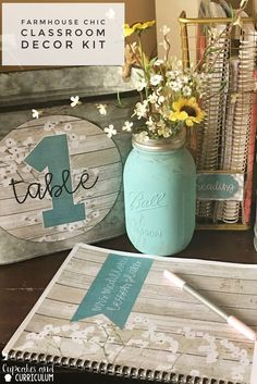 Classroom Decor Kit- Farmhouse Chic. Channel your inner Joanna Gaines with this rustic and charming Classroom Decor Kit with editable templates!
