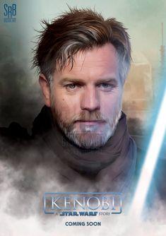 Star Wars Jedi, Star Wars Art, Star Wars Kenobi, Darth Bane, Star Wars Characters Pictures, Jedi Sith, Star Wars Concept Art, Ewan Mcgregor, Star Wars Poster