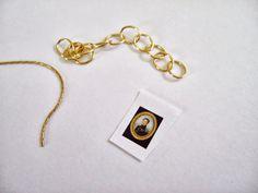 Wasting Gold Paper: Tutorial: A Georgian Miniature Portrait in 1/12th Scale
