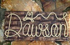 32 PERSONALIZED SIGN  Toddler Baby Personalized  by RopeAndStyle