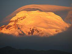 Cayambe mountain at dusk