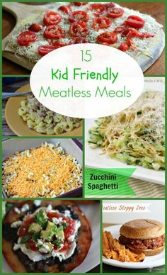 Need some ideas  for Meatless Meals that your kids will actually eat? Check out these 15 meatless recipes for some dinner ideas!