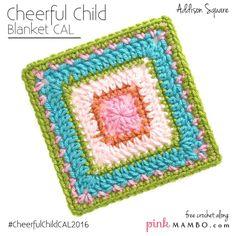 #12-Cheerful Child Crochet Along Addison Square
