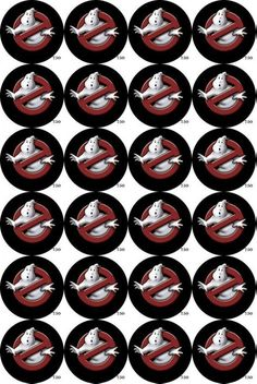 With these classic Ghostbusters logos, your cupcakes + cake will no doubt be on point with your party's decorations.