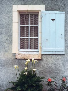 European photo of blue shutter with heart in Provence, France by Dennis Barloga   Photos of Europe: Fine Art Photographs by Dennis Barloga