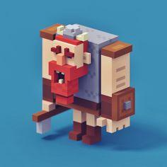 Resultado de imagen para voxel character