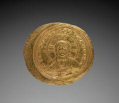 Nomisma with Constantine IX Monomachus (obverse), 1042-1055 Byzantium, 11th century gold, Diameter - w:2.90 cm (w:1 1/8 inches) Wt: 4.4 grams