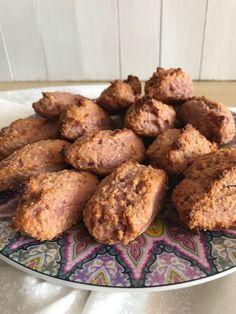 Broinhas de batata-doce roxa