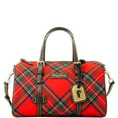 For Fall, please!  Dooney & Bourke: Tartan Barrel Satchel (sold out)