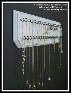 Jewelry Holder...can we make these for gifts?! Jules & Court would love it!!