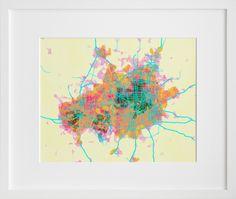 map of dallas- love the colors