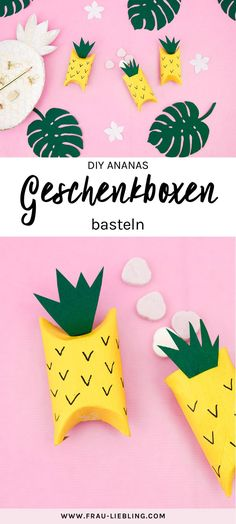 Make a DIY pineapple gift box from cardboard rolls Tinker DIY pineapple gift boxes – a summery DIY idea for tinkering with children. The pineapple gift boxes are great Cute Gifts, Diy Gifts, Pineapple Gifts, Cardboard Rolls, Diy Gift Box, Gift Boxes, Holiday Break, Toilet Paper Roll, Best Birthday Gifts
