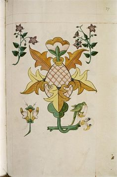 From a Tudor pattern book. Includes typefaces! Would be beautiful as an embroidery piece or a tattoo. =)