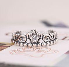 Princess Crown Ring 925 Silver