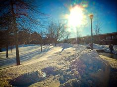 Beautiful winter day on campus today!