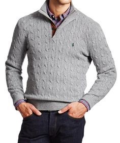415d417b2e61 POLO Ralph Lauren   Cable Knit Sweater   Sweaters   Knits   Harry Rosen  Cable Knit