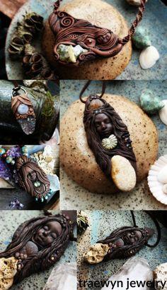 TRaewyn Jewelry. Clay & Gemstone Earth Medicine - Soul Journey Jewelry. FREE POSTAGE WORLDWIDE.
