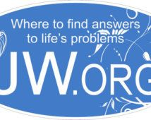 """JW.ORG Bumper Sticker, (2) 3""""x6"""", Great PIONEER Gift, Free Shipping in usa"""