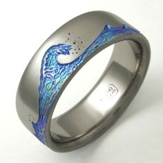 wave wedding band | ... titanium ring with waves | Titanium wedding rings with waves