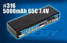 NEW! Reedy 5000mAh 65C 7.4V 2S Competition LiPo Battery