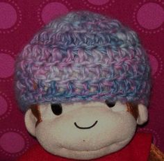 Newborn Thick & Thin Wool Beanie Made With by amydscrochet on Etsy, $6.00