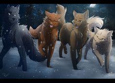 Snowy Night by RiverSpirit456.deviantart.com on @DeviantArt