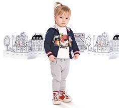 Full zip, girocollo e pantalone: un look sportivo e funzionale, pensato per il rientro a scuola! #FW12 #Monellopoli