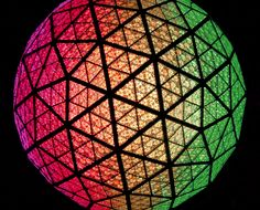 The 11,875-pound ball is covered in 2,688 Waterford Crystal triangles: Times Square New Years