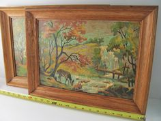 Set of Vintage 50's/60's Paint by Number Pictures by QCreated, $50.00