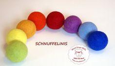Rainbow felt balls SET OF 8 Felted XXL felted by Schnuffelinis