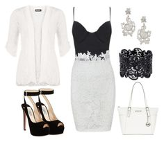 """""""Lace Dress"""" by tlb0318 on Polyvore featuring WearAll, Prada, MICHAEL Michael Kors and Oscar de la Renta"""