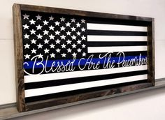 The ORIGINAL Quoted Thin Blue Line Wood Flag Please enter your details in the personalization section before you checkout. OVERVIEW > Dimensions shown: 22 Police Sign, Police Flag, Police Officer Gifts, Police Gifts, Police Quotes, Military Police, Police Cars, Thin Blue Line Flag, Thin Blue Lines
