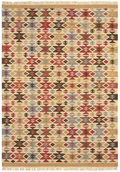 Kelim rug hand woven in India, featuring traditional weaving techniques to create a flat woven Natural Weave, Natural Rug, Dhurrie Rugs, Kilim Rugs, Victorian Rugs, Joseph, Candle Accessories, Home Rugs, Geometric Designs
