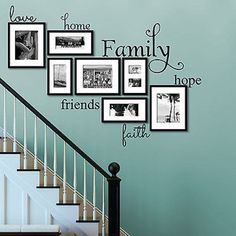 Love Home Family Hope Friends Faith Vinyl Wall Decal Home and Love Fam – Decor Designs Decals