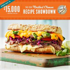 Don't forget - enter the 2015 Grilled Cheese Recipe Showdown by May 15 for your chance to win $15K!