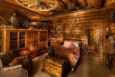 Wowie-stunning interior for a cabin!