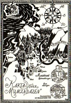 Karta över Mumindalen by Tove Jansson