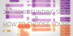 How To Choose The Right Crowdfunding Site