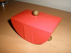 Art Deco Bakelite and Brass Jewelry/Vanity Box (1935) by General Electric