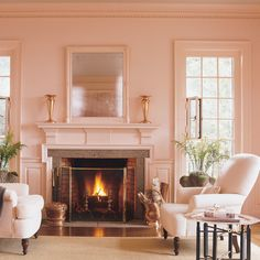 Romantic Style Living Room Design decorating before and after home design house design design ideas Pink Living Room, Home, Room Colors, Fireplace Design, Living Room Designs, Romantic Style Living Room, Pink Room, House Interior, Room Design
