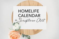 HomeLife March 2017 Family Time Calendar and Scripture Art