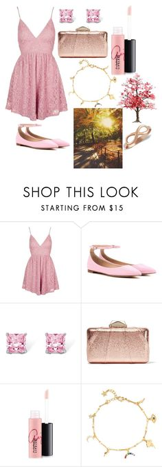 """Romantic Walk"" by magriatrix ❤ liked on Polyvore featuring Topshop, Gianvito Rossi, Palm Beach Jewelry, KOTUR, MAC Cosmetics and IaM by Ileana Makri"