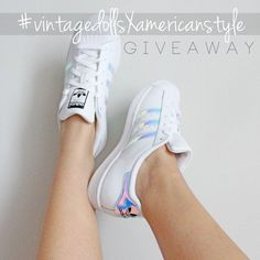 ADIDAS SUPERSTAR GIVEAWAY We want to thank our followers for their support RULES: 1 follow @americanstyle & @vintagedolls 2 tag 2 friends in the comments 3 repost photo w/ #vintagedollsxamericanstyle ------ The giveaway is international and ends February 24 2016. The prize is a never-worn pair of holographic Adidas Superstar in US size 7 (can fit up to US size 8). Be sure to turn on post notifications for both pages! Tag a new friend in the comments every day for extra entries. No spamming…